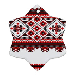 Consecutive Knitting Patterns Vector Snowflake Ornament (two Sides)