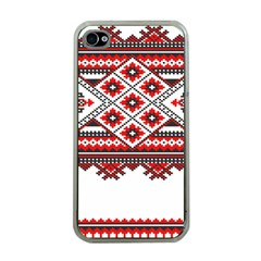 Consecutive Knitting Patterns Vector Apple iPhone 4 Case (Clear)