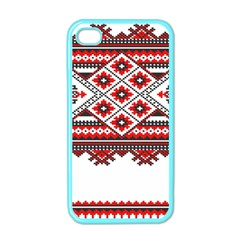 Consecutive Knitting Patterns Vector Apple iPhone 4 Case (Color)