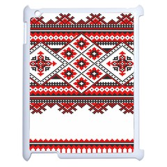 Consecutive Knitting Patterns Vector Apple Ipad 2 Case (white)
