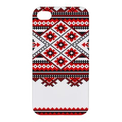 Consecutive Knitting Patterns Vector Apple iPhone 4/4S Hardshell Case