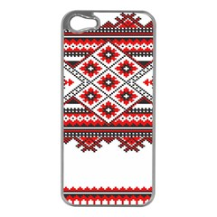 Consecutive Knitting Patterns Vector Apple iPhone 5 Case (Silver)