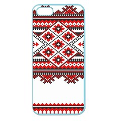 Consecutive Knitting Patterns Vector Apple Seamless Iphone 5 Case (color)