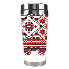 Consecutive Knitting Patterns Vector Stainless Steel Travel Tumblers