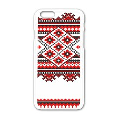 Consecutive Knitting Patterns Vector Apple Iphone 6/6s White Enamel Case