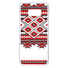Consecutive Knitting Patterns Vector Samsung Galaxy S8 Plus White Seamless Case