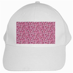 Abstract Pink Squares White Cap