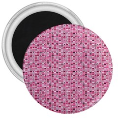 Abstract Pink Squares 3  Magnets