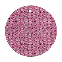 Abstract Pink Squares Ornament (round)