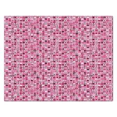 Abstract Pink Squares Rectangular Jigsaw Puzzl