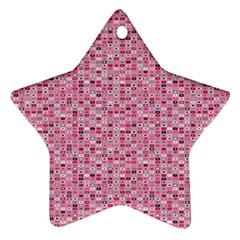 Abstract Pink Squares Star Ornament (Two Sides)
