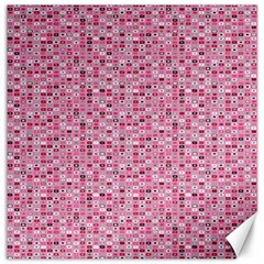 Abstract Pink Squares Canvas 12  x 12