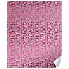 Abstract Pink Squares Canvas 16  x 20