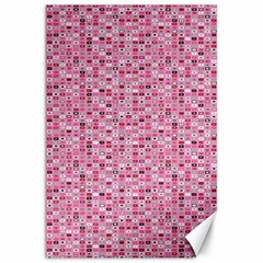 Abstract Pink Squares Canvas 20  x 30