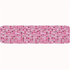 Abstract Pink Squares Large Bar Mats