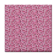 Abstract Pink Squares Face Towel