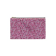Abstract Pink Squares Cosmetic Bag (Small)