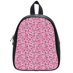 Abstract Pink Squares School Bags (small)
