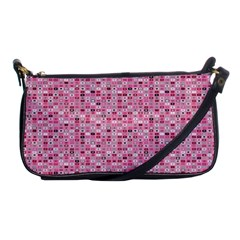 Abstract Pink Squares Shoulder Clutch Bags