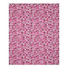 Abstract Pink Squares Shower Curtain 60  x 72  (Medium)
