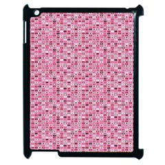 Abstract Pink Squares Apple Ipad 2 Case (black)
