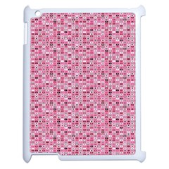 Abstract Pink Squares Apple iPad 2 Case (White)