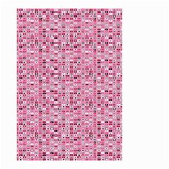 Abstract Pink Squares Small Garden Flag (two Sides)
