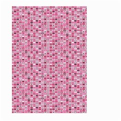 Abstract Pink Squares Large Garden Flag (two Sides)