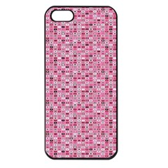 Abstract Pink Squares Apple Iphone 5 Seamless Case (black)