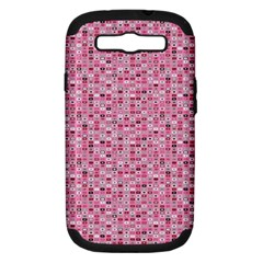 Abstract Pink Squares Samsung Galaxy S III Hardshell Case (PC+Silicone)