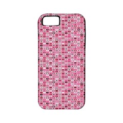 Abstract Pink Squares Apple Iphone 5 Classic Hardshell Case (pc+silicone)