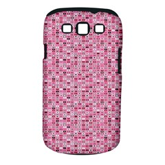 Abstract Pink Squares Samsung Galaxy S III Classic Hardshell Case (PC+Silicone)