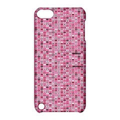 Abstract Pink Squares Apple iPod Touch 5 Hardshell Case with Stand