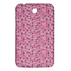 Abstract Pink Squares Samsung Galaxy Tab 3 (7 ) P3200 Hardshell Case