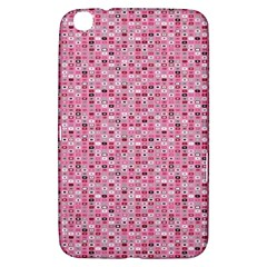 Abstract Pink Squares Samsung Galaxy Tab 3 (8 ) T3100 Hardshell Case