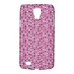 Abstract Pink Squares Galaxy S4 Active