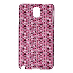 Abstract Pink Squares Samsung Galaxy Note 3 N9005 Hardshell Case