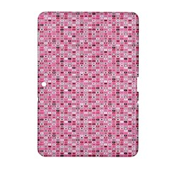 Abstract Pink Squares Samsung Galaxy Tab 2 (10.1 ) P5100 Hardshell Case