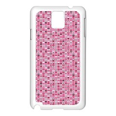 Abstract Pink Squares Samsung Galaxy Note 3 N9005 Case (White)