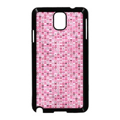 Abstract Pink Squares Samsung Galaxy Note 3 Neo Hardshell Case (black)
