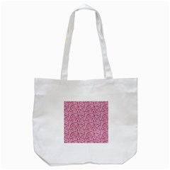 Abstract Pink Squares Tote Bag (White)