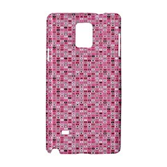 Abstract Pink Squares Samsung Galaxy Note 4 Hardshell Case