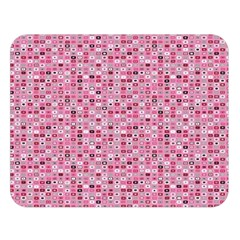 Abstract Pink Squares Double Sided Flano Blanket (Large)
