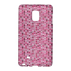 Abstract Pink Squares Galaxy Note Edge