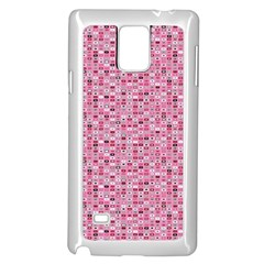 Abstract Pink Squares Samsung Galaxy Note 4 Case (white)