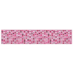 Abstract Pink Squares Flano Scarf (Small)