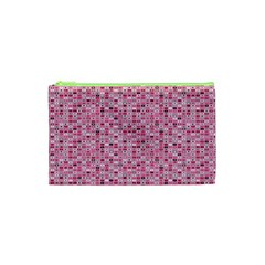 Abstract Pink Squares Cosmetic Bag (XS)