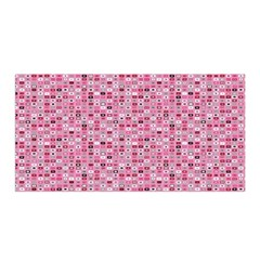 Abstract Pink Squares Satin Wrap