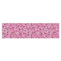 Abstract Pink Squares Satin Scarf (Oblong)