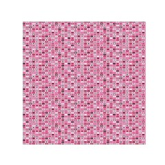 Abstract Pink Squares Small Satin Scarf (square)